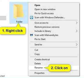 how to rename a folder