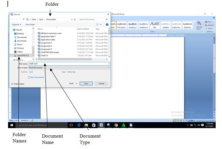 the simple steps on how to save a document in Microsoft Word 2007