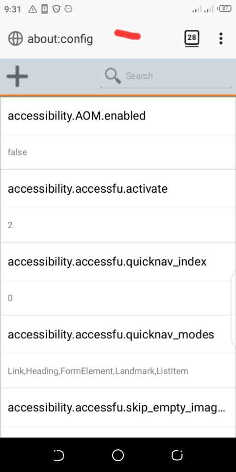 how to enable Javascript in firefox android phone