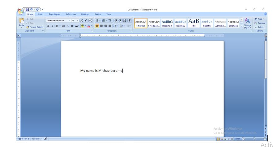 Simple Steps on How to Type a Document or Text on Microsoft Word 2007
