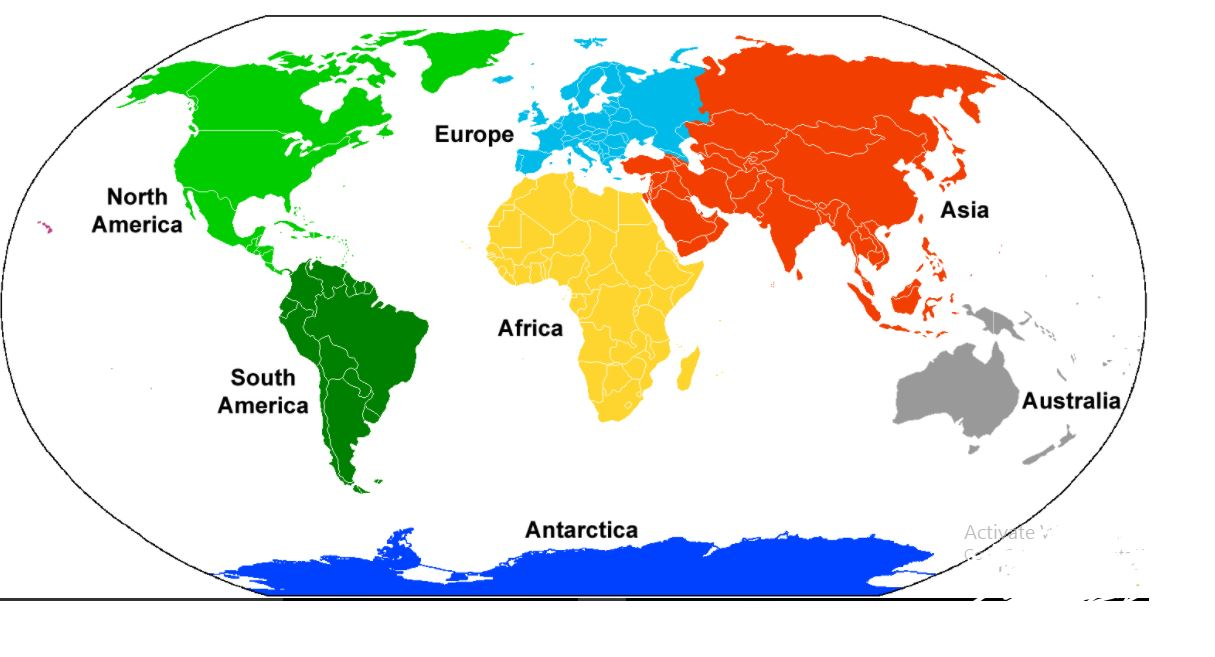 The List Of Continents In The World And Their Countries