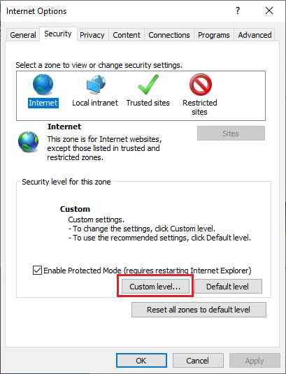 how to enable Javascript in internet explorer browser