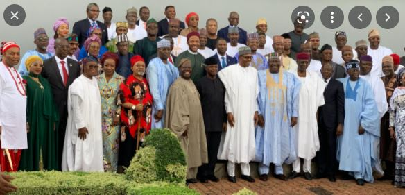 Group photo of the 44 ministers in Nigeria
