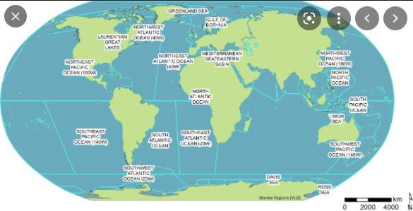 The List Of The Top 10 Largest Oceans and Seas In The World