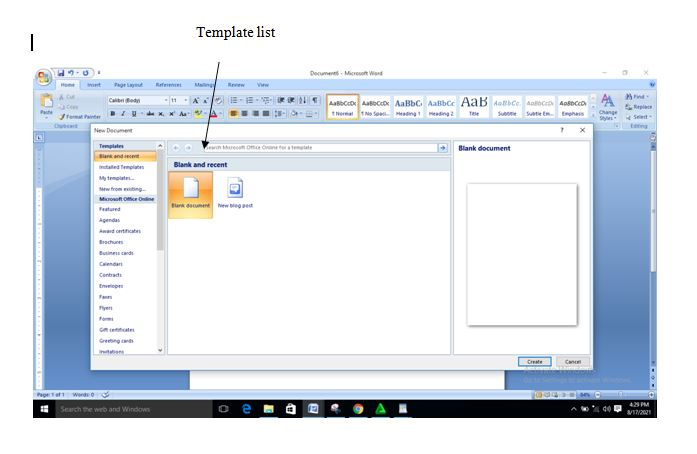 How To Open  A Document In Microsoft Word 2007